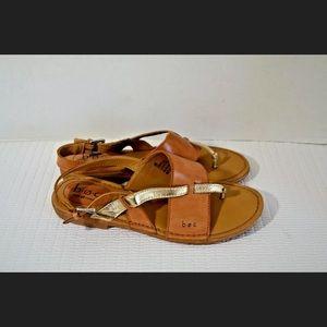 Born BOC Women's Size 6 Brown Leather Strap Boho
